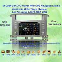 Free Shipping! 1998- 2004 Toyota Land Cruiser 100 GPS Navigation DVD Player,Multimedia Video Player system+Free GPS map&camera