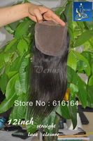 "Lace  closure hair,lace top closure swiss lace 4""*3.5"" body wave shedding and tangle Virgin Brazilian Hair     [036]"