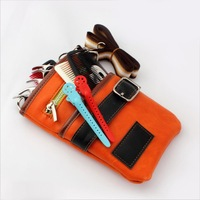 High Quality PU Leather  hairdressing pouch scissor bags 2 colors to choose