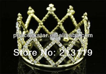Свадебное цветочница / детские кристалл полный круг вокруг мини тиара корона CT1734
