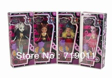 Clearance goods! Plastic Monster High Original Dolls Action Figure toy Free shipping(China (Mainland))