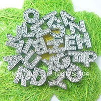 1300pc A-Z  8mm Slide letters Charm DIY Accessories fit pet collar and wristband