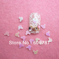 Free Shipping 100g/bag white Mickey head nail art decorations