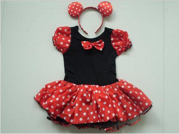 Vestido de Minnie Mouse para niña rojo - Imagui