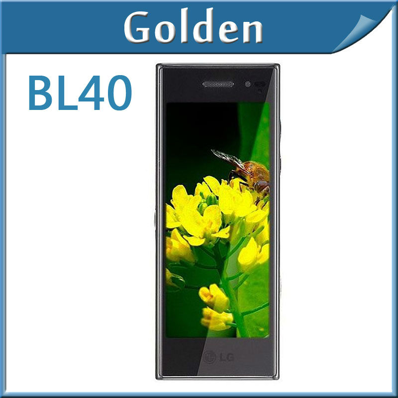 freeshopping Original LG BL40 Cellphone with bluetooth WLAN GPS USB 5MP Camera touchscreen mp3 player mobile phone(China (Mainland))