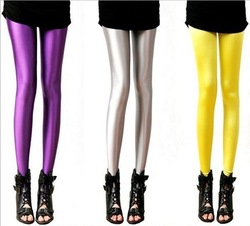 Multicolour neon leggings candy color elastic size tight pants pantyhose ankle length trousers leggings 3007(China (Mainland))