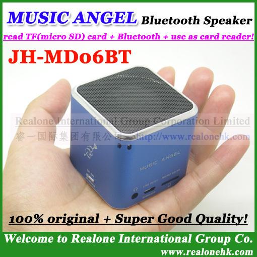 Upgraded version JH-MD06BT02 Bluetooth Speaker original MUSIC ANGEL mini speaker mini sound box,support TF card player(China (Mainland))