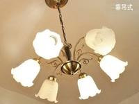 FREE SHIPPING EMS pendant lamp 6 head tan classical European style glass dome light lamp sitting room Pendant Lights