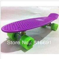"Free Shipping 22.5"" Penny Style Skate Board 2013 Nickel Cruiser Plastic Skateboard Longbard"