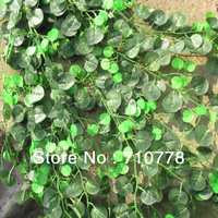 2.4M 40PCS sweet potato watermellon Malus spectabilis leaves vine leaves air conditioning wall decoration rattails encryption
