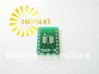 FREE SHIPPING 100PCS TSSOP16 SSOP16 MSOP16 SO16 SOP16 SOIC16 turn DIP16 1.27MM / 0.65MM  IC adapter Socket / Adapter plate / PCB