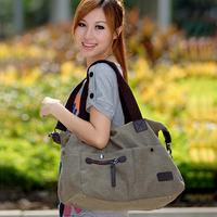 ladies Canvas bag one shoulder school bags  women's cross-body casual large handbag
