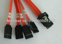 Mini SAS 4i 36P SFF-8087 to 4SATA 7P HDD Cable 100cm  computer components