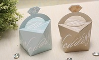 2014 diamond shape wedding boxes , gift  sweet box , favor candy chocolate boxes  200 pcs/lot