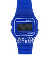 12pcs f-91w high quality luminous led electronic watch waterproof child watch chronograph sports movement watch