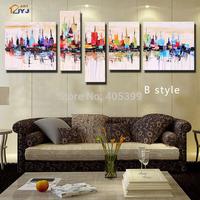 Free Shipping 5pcs  Quality 100% Handmade Modern Style Handmade Modern Canvas Oil Painting Wall Art Gift Wall Art  Love Art Z011
