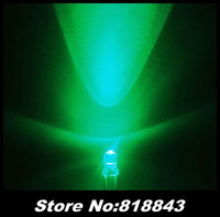1000pcs New 3mm Round Green Ultra Bright Water Clear LED Lamp