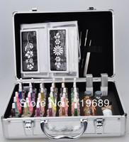 Free shipping Professional glitter tattoo kit, Body Art Deluxe Kit (38color)  BALK38