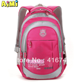 Aimi Capacity primary school students school bag girls double-shoulder male child school bag E018 BE2