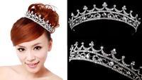 Fashion Crystal Tiara Crown Hair Accessories For Wedding Bride Quinceanera Crowns Hair Chain Pageant Hair Jewelry WIGO0070