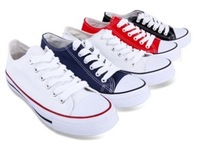 Free Shippimg HOT SELLING! Casual low fashion solid color canvas shoes lovers shoes single shoes