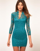 Free Shipping Sale sexy evening lace bodycon dress women summer dress party dresses vestidos roupas femininas vestido de renda