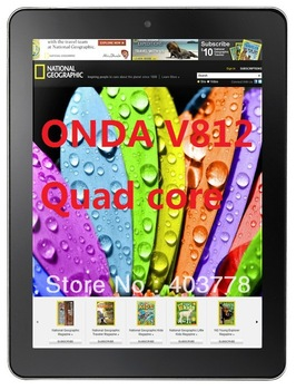 "New arrival Quad core  tablet pc Onda V812 8"" IPS III Allwinner A31 2GB /16GB  DDR3 Android 4.1 camera 5.0MP"