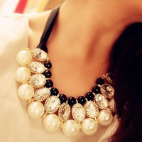 Min Order 15$ Free Shipping 2013 Newest Vintage Style Imitate Collar Necklaces Good Quality Wholesale Hot HG0406