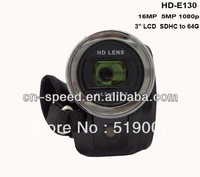 "Full HD 1080P 16MP 3"" TFT LCD Touch ScreenDigital Video Camcorder Camera,16XZOOM, HD-130Z,With Russian language"