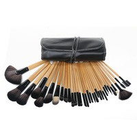Wholesale Bobi Professional 32 PCS Makeup Brush Cosmetic set Kit / makeup brushes with leather case, Drop Free Shipping