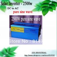 Good Quality Solar Inverter 2500W DC12V/24V/48V AC220V Pure Sine Wave PV Power Inverter for Solar Wind Car Boat