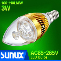 Hot Sale 3W E14 LED Bulb with Epistar Chip AC85~265V Warm White(3000K) Cold White(6500K)