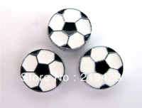 Sport Balls 100pcs soccer slide charms fit 8mm belt/wristband/pet collar