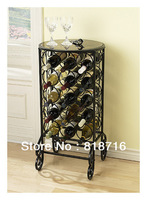 Modern European Style High-quality Wine holder/Metal Wine Rack, Made of Wrought Iron ,15 Bottles