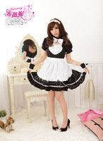 New Cosplay Costume KIGURUMI sexy maidservant Maid Outfits Party Dress Set apron