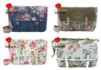 FREE SHIPPING new arrive cath blue pembrige big canvas saddle bag cath floral ladies messenger bags painterly rose shoulder bag