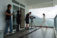 FREE SHIPPING tripod dolly Track Rail System with Dolly and Transport Case--475cm
