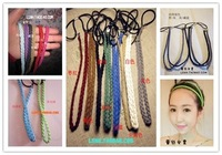 Fashion 20Color vintage bohemia knitted twisted braid headband hand made elastic hair bands headbands hair accessories for women