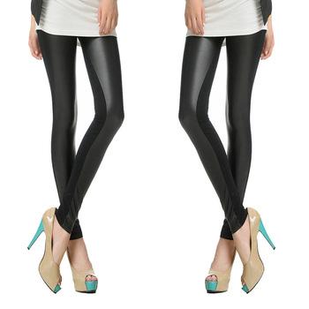 2014 Женщины's Sexy Модный Faux Leather High Талия Leggings Брюки, Plus Размер ...