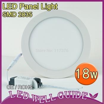 20pcs/carton led panel light 18W SMD2835,round Led ceiling Light AC85-265V,1610LM CE&ROHS Alumium,FREE SHIPPING China post