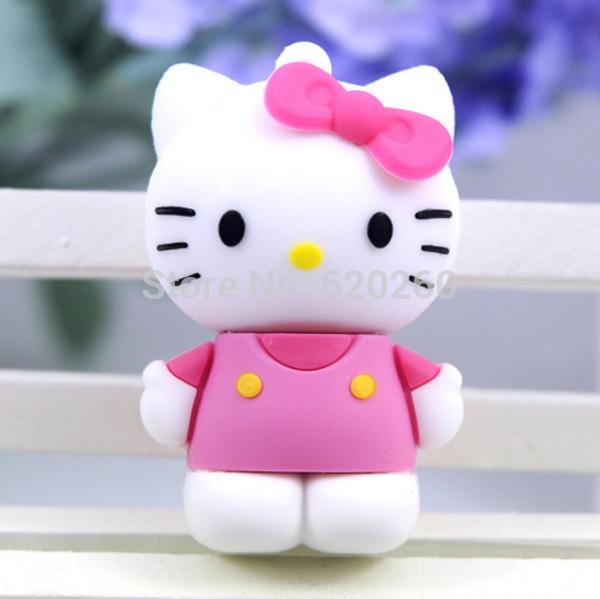 Free shipping! 2gb/4gb/8gb/16gb/32gb/64gb usb flash drive cartoon usb open drives cartoon cute kt cat hello kitty usb flash disk(China (Mainland))