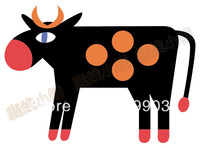 Cartoon Cow Iron-on Transfers For Clothes Heat Transfer Press Patches Stickers Drop Shipping Wholesale no 789271089