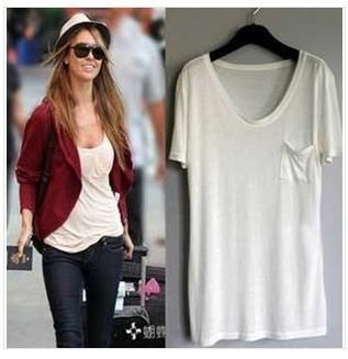European Style T shirt women's modal loose shirt  free shipping W4018