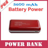 30pcs/lot New 5600mAh portable Power Bank External Battery For Mobile Phone /Mp4 /Phone/ IPAD Free shipping