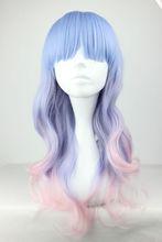 55cm Long Multi-Color Beautiful lolita wig Anime Wig(China (Mainland))