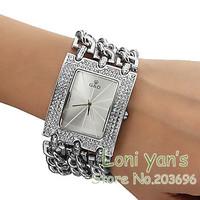 2014 New Casual Bracelet Watch Quartz Big Starp Crystal Men Women Unisex Wathces Wristwatch