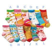 Children socks  male female child slip-resistant cotton socks baby girl socks 1 - 3 years old baby