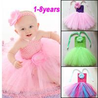 Flower Children Dress(1-8y) New Summer 2013 Baby/Infant Girls Princess Dress children/kids Wedding tennis Tutu Dresses