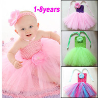 Flower Children Dress(1-8y) New Summer 2013 Baby/Infant Girls Princess Dress children/kids Wedding tennis Tutu Dresses