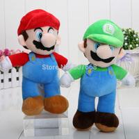 Wholesale 10'' New High Quality Super Mario Bros. Stand MARIO & LUIGI 10 pcs/Lot Plush Doll Stuffed Toy Free Shipping